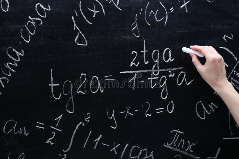 Формулы математик стоковая фотография