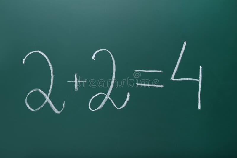 Формулы математик стоковое изображение