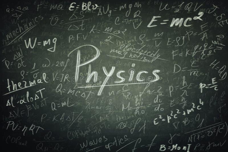 Формулы физики стоковое изображение