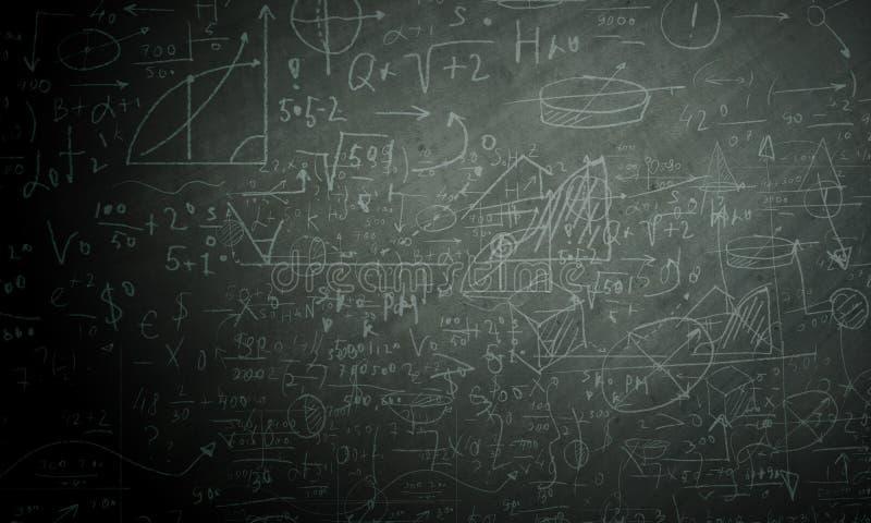 Формулы и диаграммы иллюстрация штока
