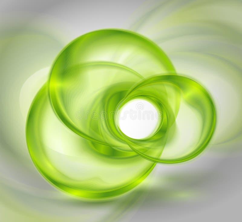 формы абстрактной предпосылки стеклянные зеленые круглые иллюстрация вектора