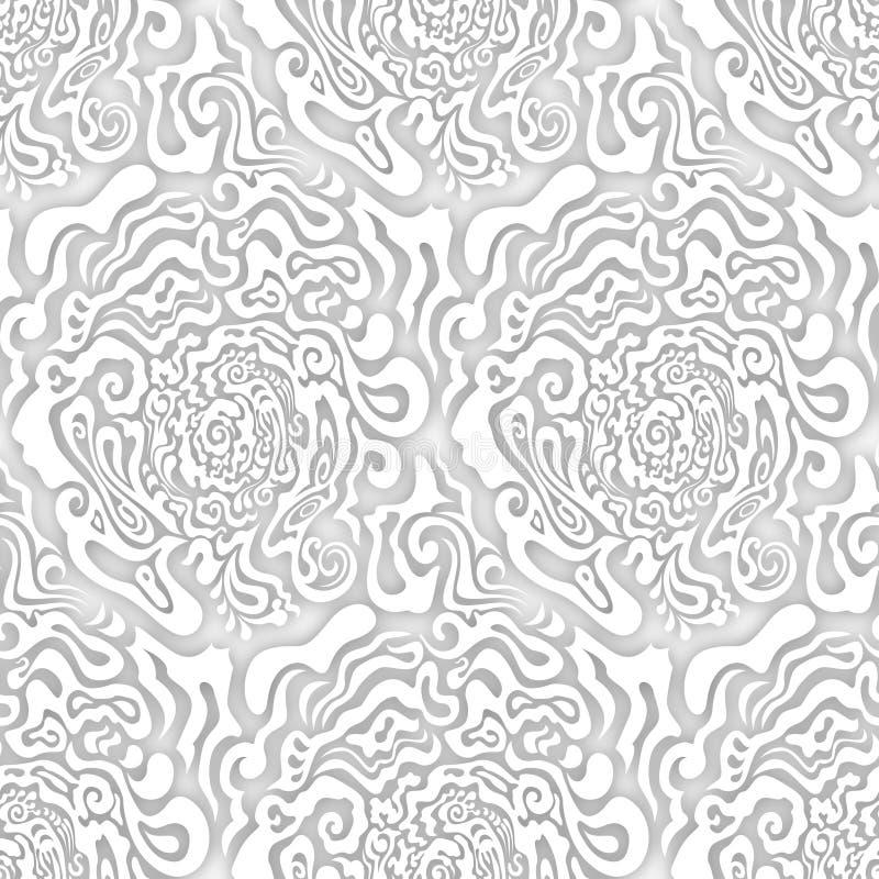 Формы безшовной текстуры серой шкалы конспекта органические голубые иллюстрация вектора