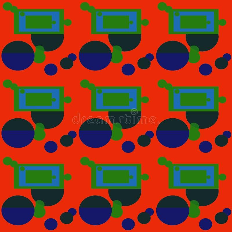 формы искусство абстрактный чертеж Безшовная печать Обои, дизайн ткани Стиль картины Справочная информация стоковое изображение