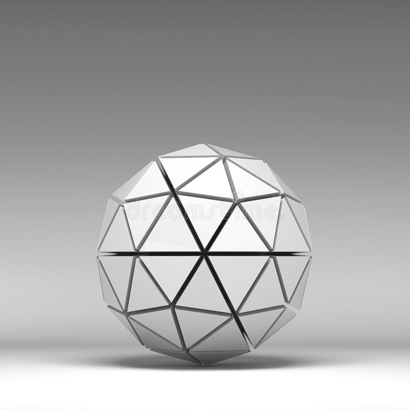 формы иллюстрации 3d основные геометрические иллюстрация вектора