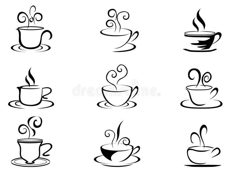 Формы кофейной чашки бесплатная иллюстрация