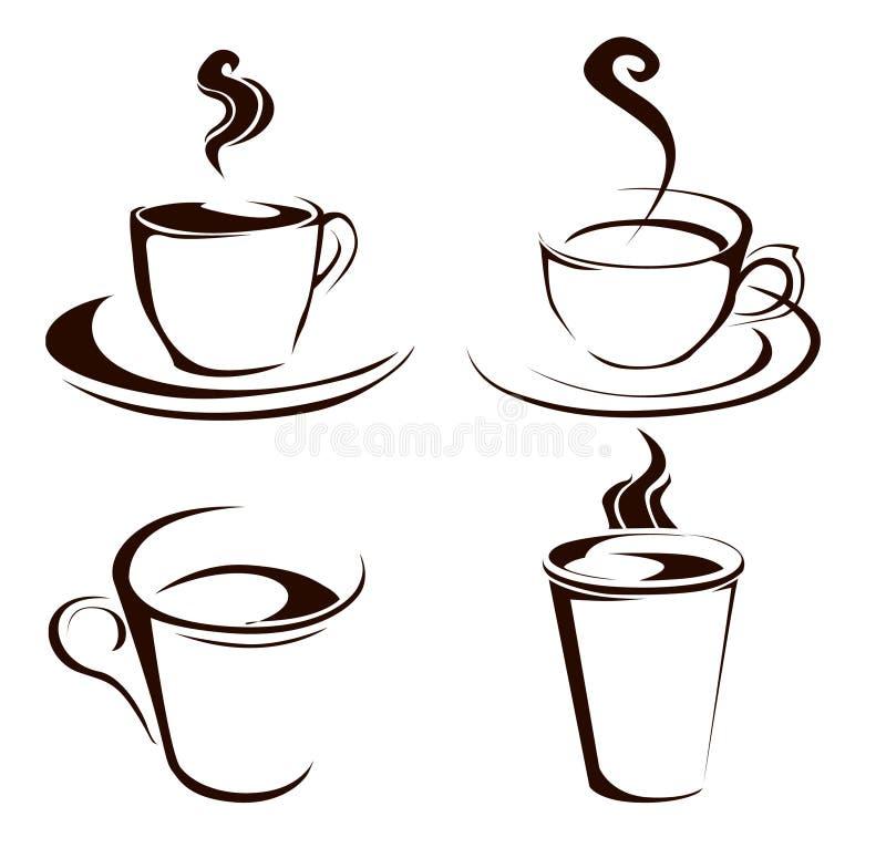Формы кофейной чашки иллюстрация вектора