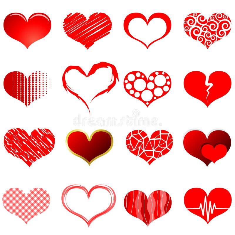 формы красного цвета сердца бесплатная иллюстрация