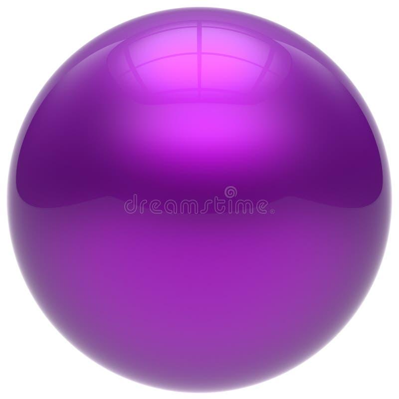 Формы круглого шарика сферы синь круга фиолетовой геометрической основная иллюстрация штока