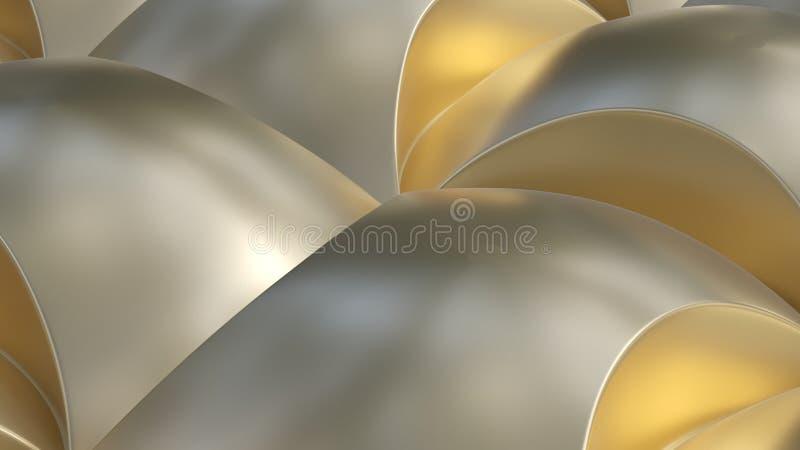 Формы металла золота curvy иллюстрация вектора