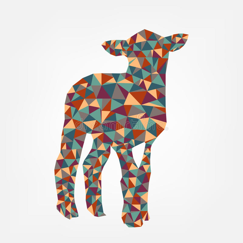 Формы овец треугольника иллюстрация вектора абстрактной животная | дизайн карточки иллюстрация вектора