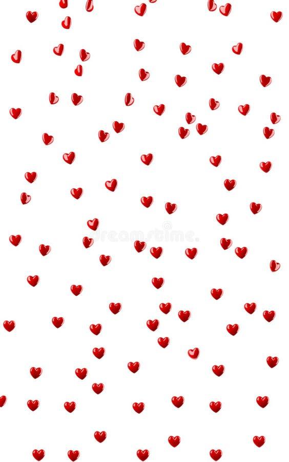 Формы сердца на белизне иллюстрация штока