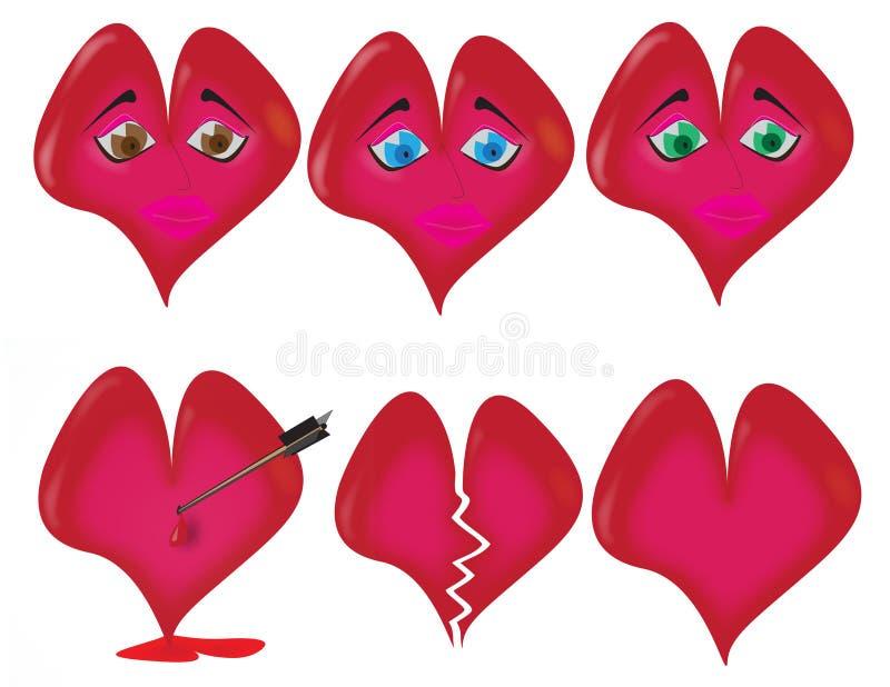 формы сердца иллюстрация штока