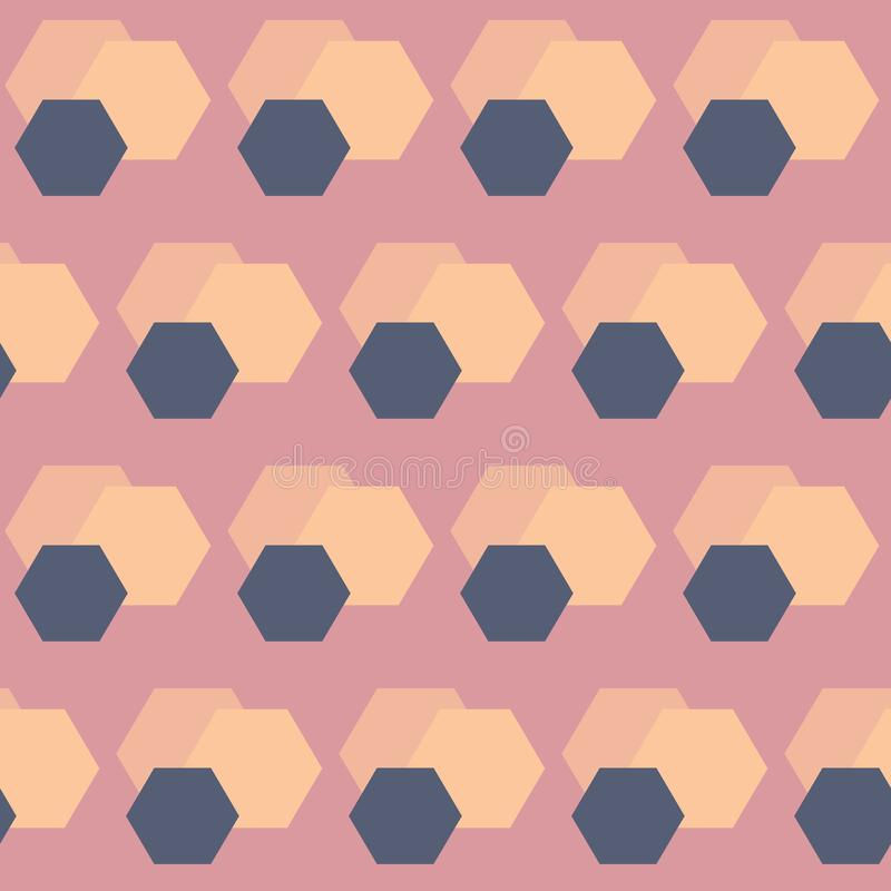 Формы сота конспекта вектора в предпосылке картины ретро цветов безшовной бесплатная иллюстрация