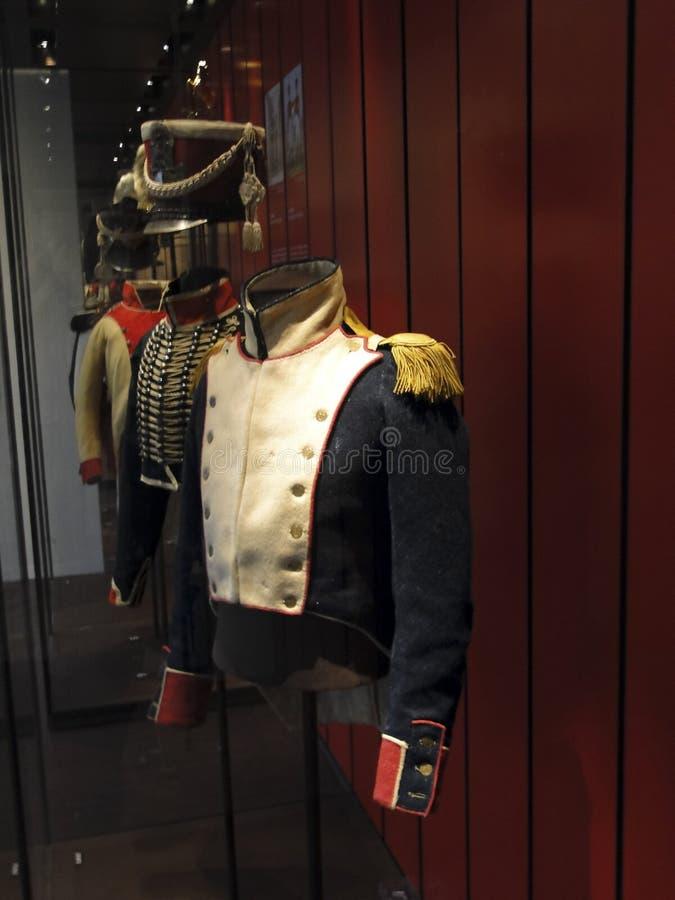 Формы французской армии, от восемнадцатого и XIX века стоковое изображение rf