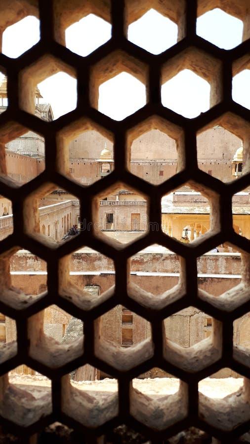 Форт Агры место всемирного наследия ЮНЕСКО на Агре Индии, дизайне интерьера, mughal архитектуре стоковое фото