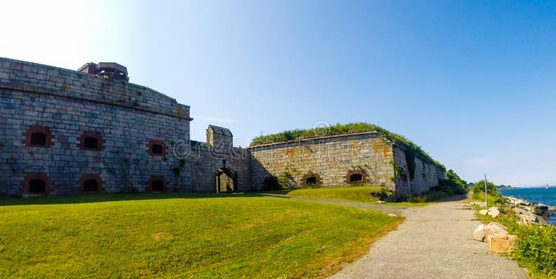 Форт Адамс, Ньюпорт, Род-Айленд стоковые фотографии rf