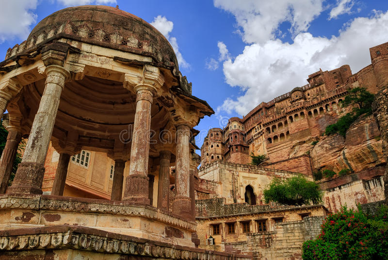 Форт в Джодхпуре, Раджастан Mehrangarh, Индия стоковое изображение