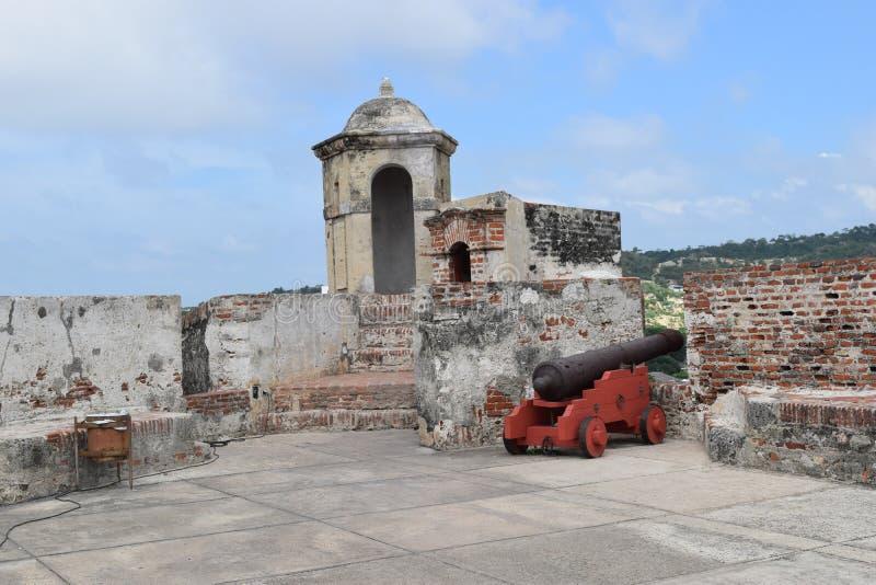 Форт в Cartagena, Колумбии стоковые изображения