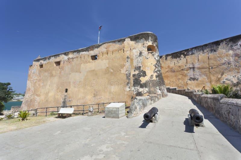 Форт Иисус в Момбасе, Кении стоковое изображение rf