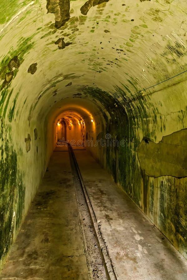 Форт карамболя бухты карамболя атомной бомбы тоннеля, ба кота, война Вьетнама Индо-Китая стоковое фото