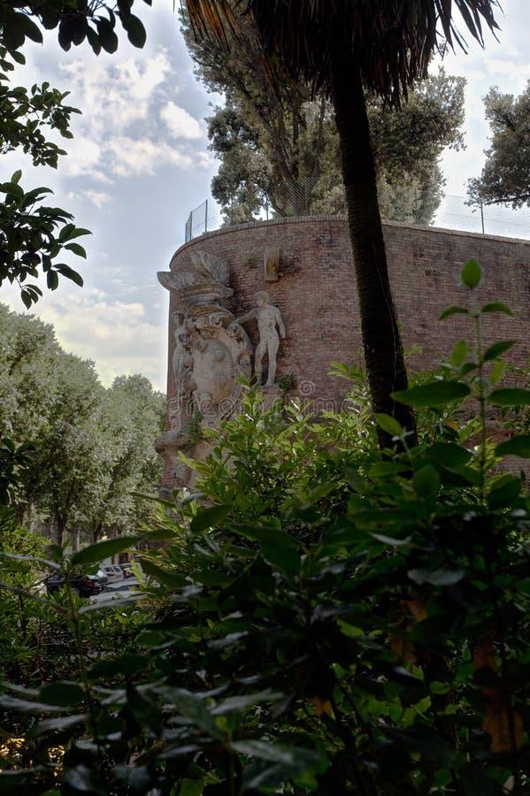 Форт крепости Fortezza Medicea Medici Святого Барбара, Сиены, Тосканы, Италии стоковые фотографии rf