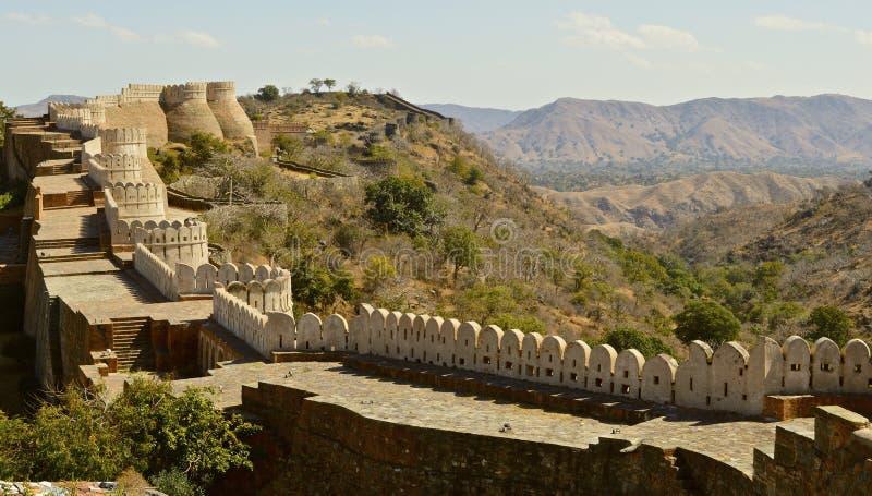 Форт на Kumbhalgarh стоковые фото