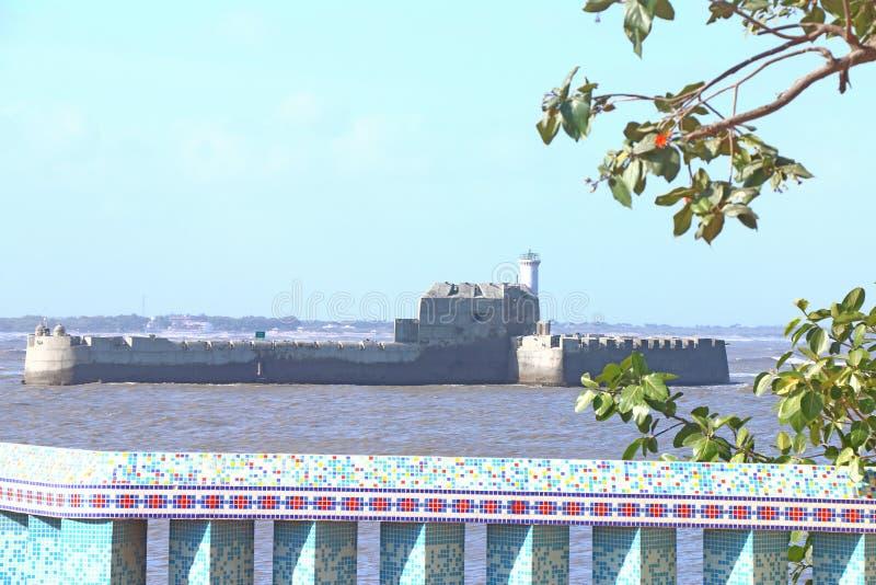 Форт острова с diu Индии стоковые фотографии rf