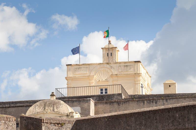 Форт Санта Luzia, Elvas, Portalegre, Португалии стоковое фото