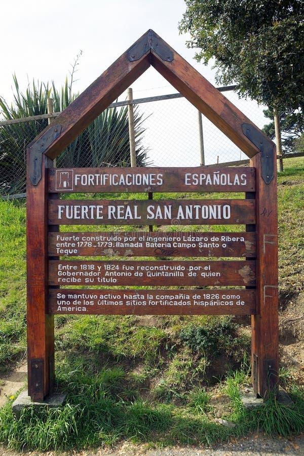Форт Сан Антонио на Ancud, острове Chiloe, Чили стоковые фотографии rf