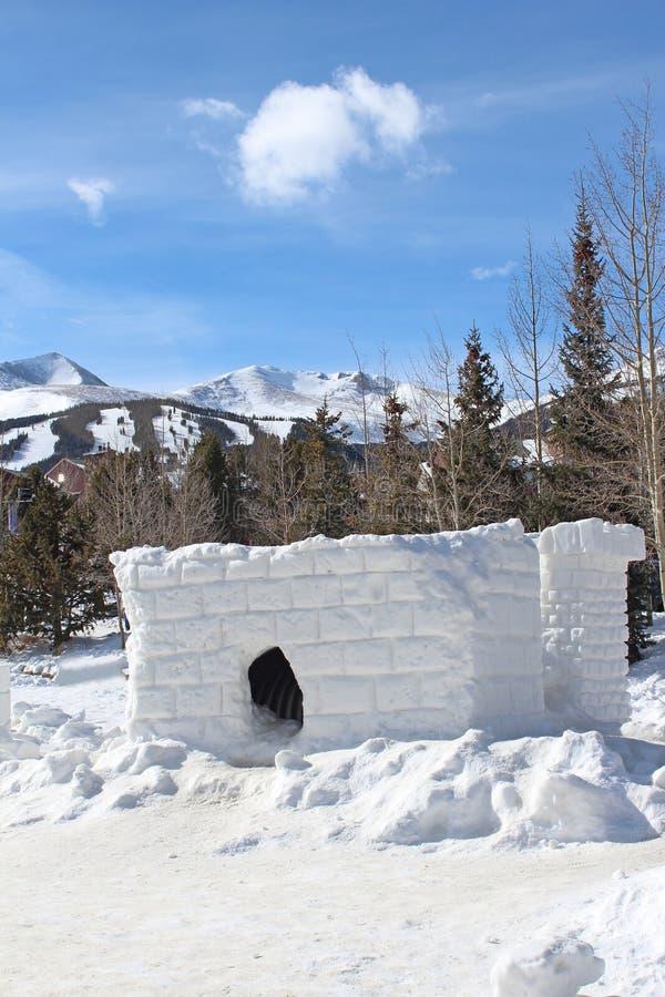 Форт снега стоковая фотография