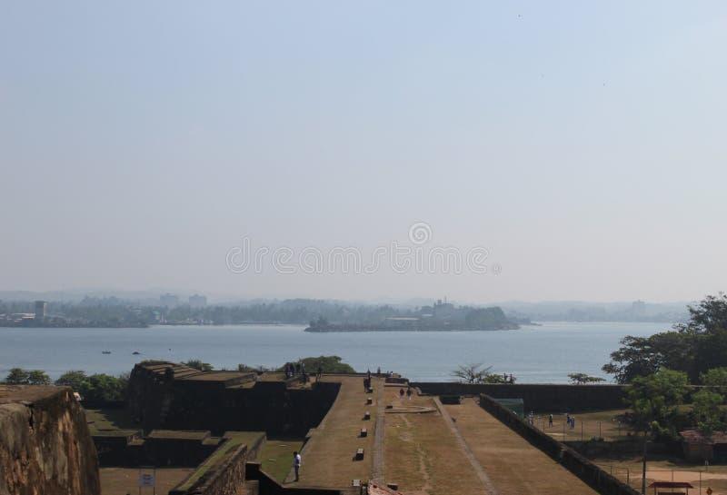Форт с целью небольшого острова стоковое изображение rf