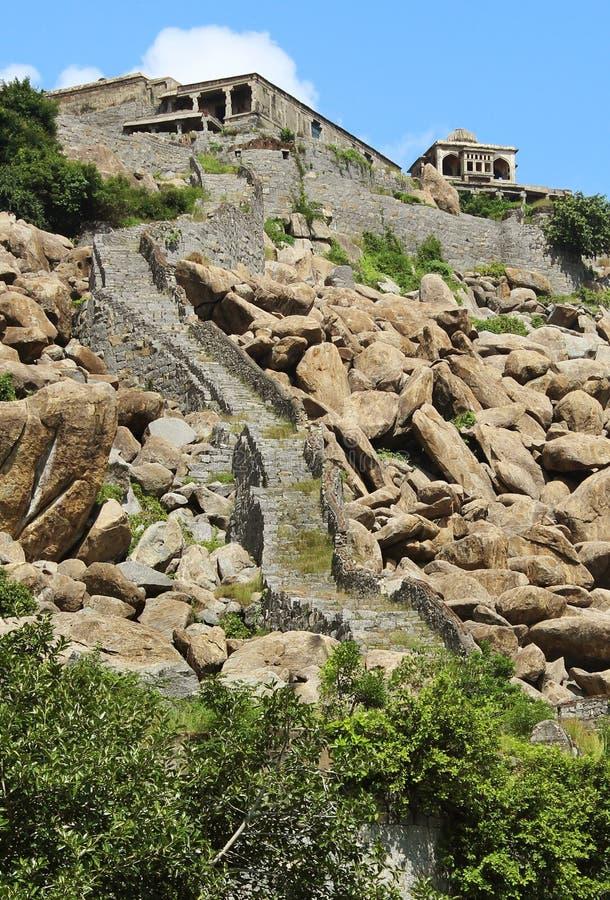 Форт холма Gingee стоковое изображение