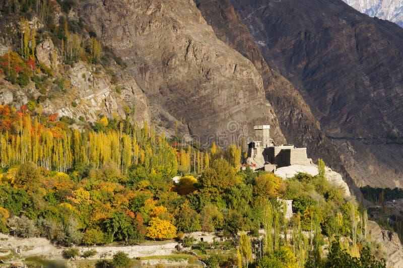 Форт Altit в долине Hunza, Пакистане стоковое изображение rf