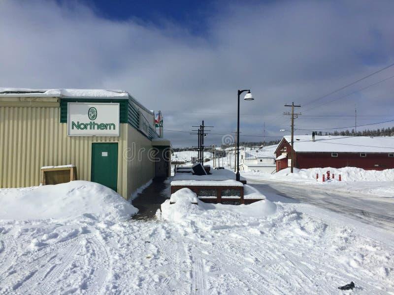 Форт Chipewyan, Альберта, Канада - 17-ое марта 2016: Северная стоковое изображение