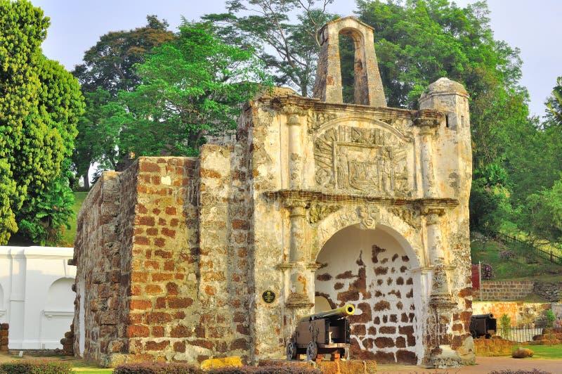 Форт A Famosa в Melaka Стоковое Изображение RF