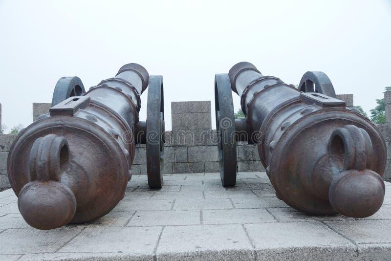 Форт guangxi Китая mengshan западный периода королевства taiping карамболя утюга небесного большого стоковое фото