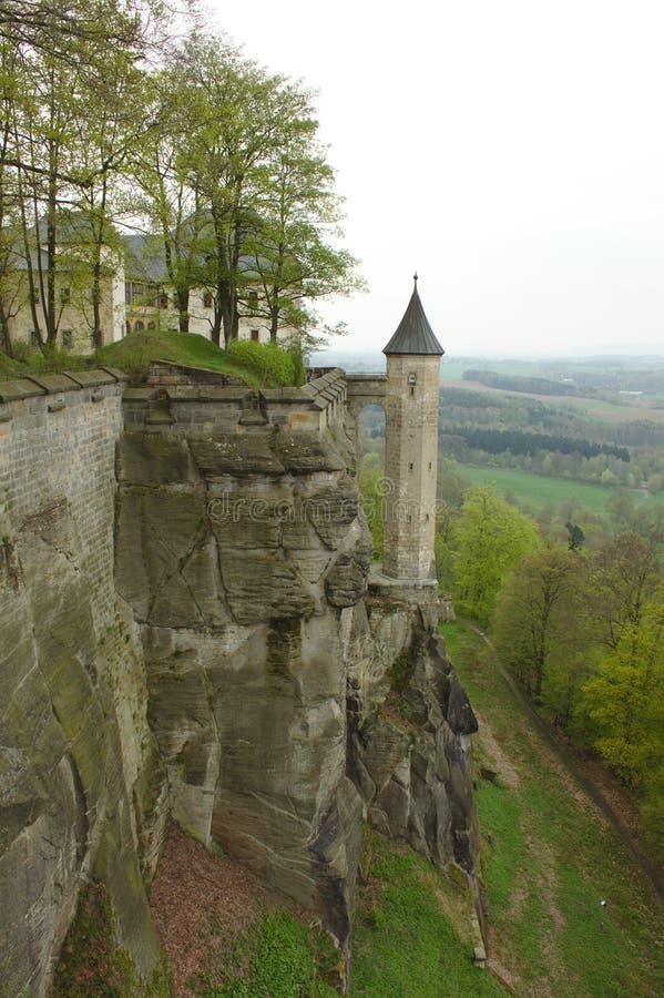 Форт Königstein стоковое изображение