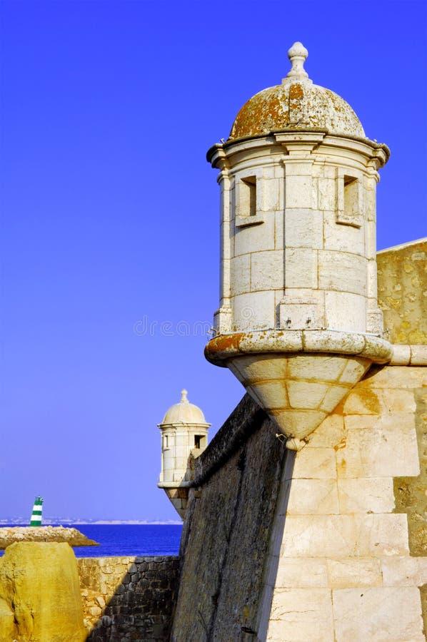 форт lagos Португалия algarve стоковые изображения rf