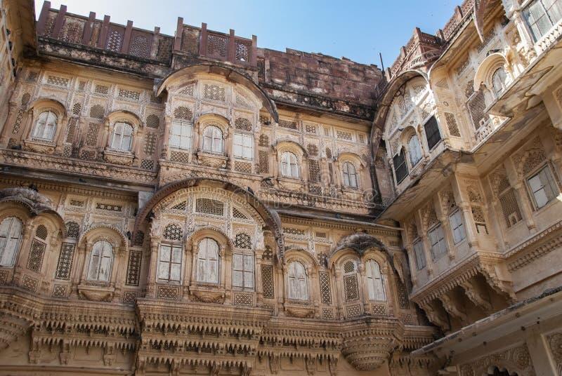Форт Mehrangarh в Джодхпур в Индии стоковые изображения rf