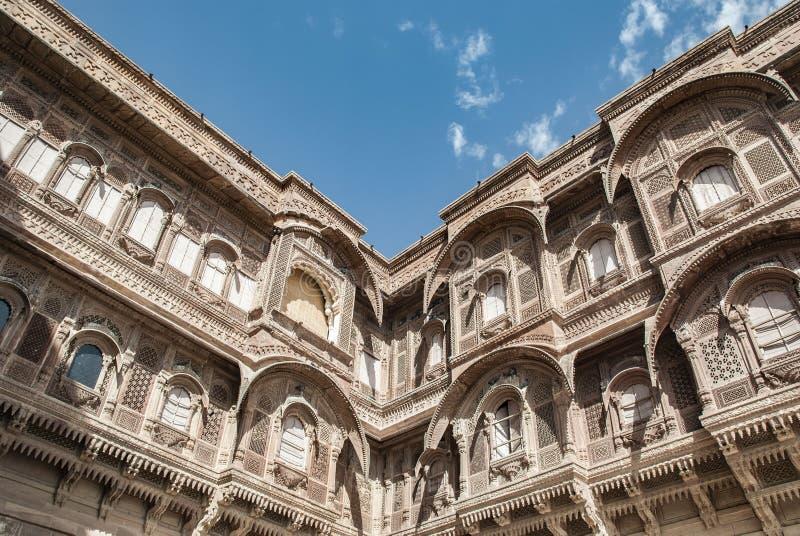 Форт Mehrangarh в Джодхпур в Индии стоковые изображения