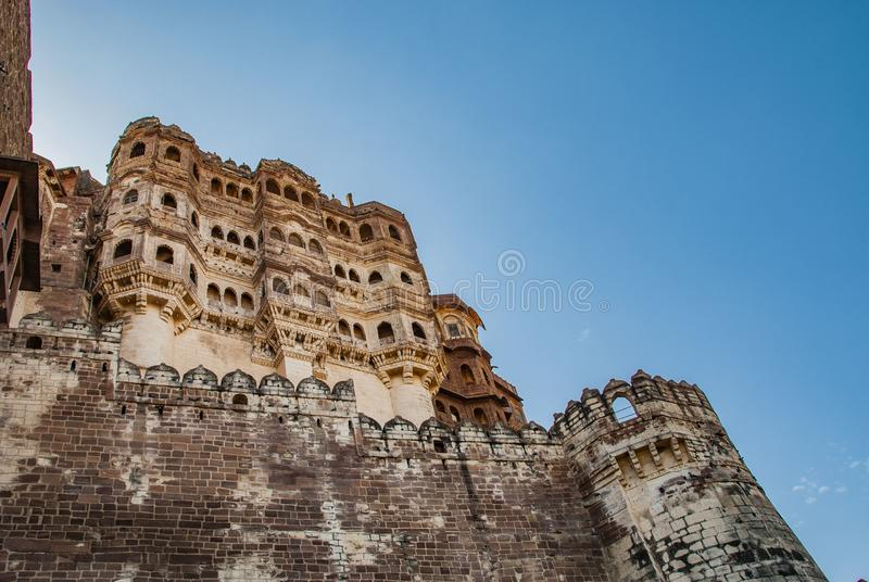 Форт Mehrangarh в Джодхпур в Индии стоковое фото rf