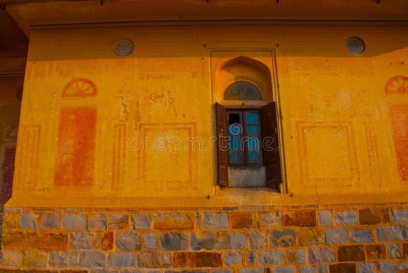 Форт Nahagarh старое окно jaipur Индия стоковое изображение