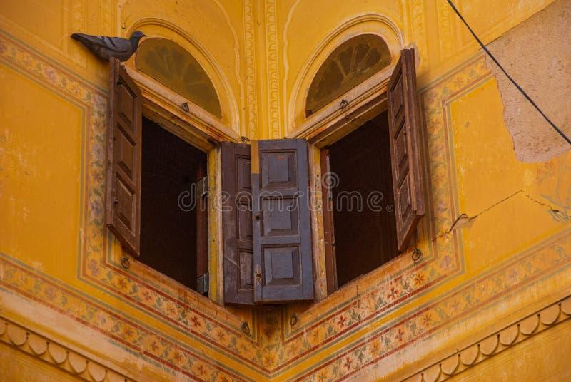 Форт Nahagarh старое окно jaipur Индия стоковое фото