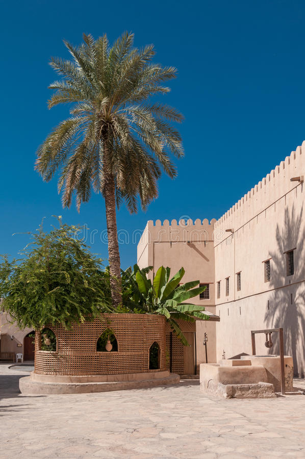 Форт Nizwa, Оман стоковое изображение rf