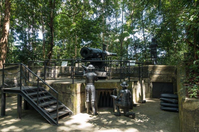 Форт Pasir Panjang заповедника парка Лабрадора бывший, Сингапур стоковая фотография rf