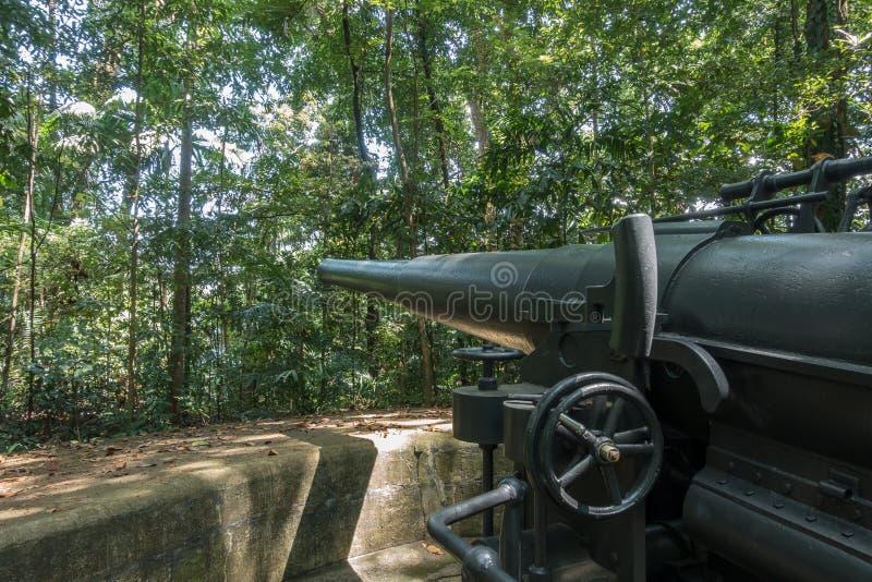 Форт Pasir Panjang заповедника парка Лабрадора бывший, Сингапур стоковое изображение rf
