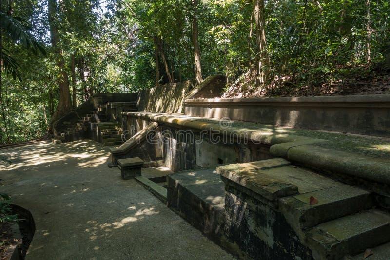Форт Pasir Panjang заповедника парка Лабрадора бывший, Сингапур стоковые изображения rf