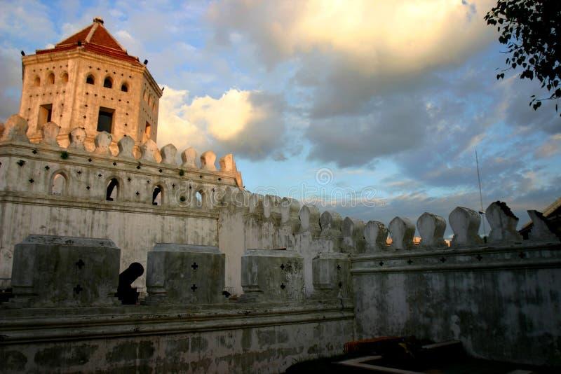 Форт Phra Sumen & парк Santi Chai Prakan стоковое фото