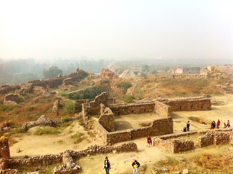 Форт Tughlaqabad стоковые изображения rf