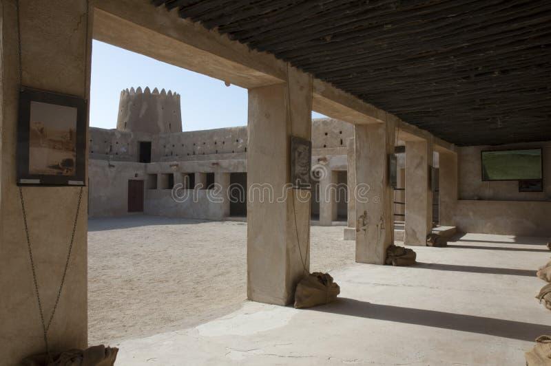 Форт Zubara внутри прохода стоковая фотография